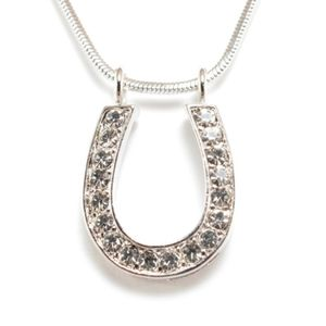 Good Luck Horseshoe Pendant Necklace